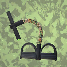 Camo Foot Pedal Pull Rope Resistance Exercise Yoga Sit-up Fitness Equipment