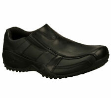 76996 Black Skechers Shoes Work Mens Slip Resistant leather Slip on Casual Dress