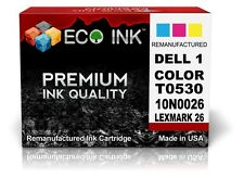ECO INK © Dell Series 1 Dell T0530 Color inkjet Cartridge Dell 720 A920A 1 PacK