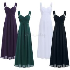 Women Long Formal Bridesmaid Dress Evening Party Prom Wedding Cocktail Ball Gown