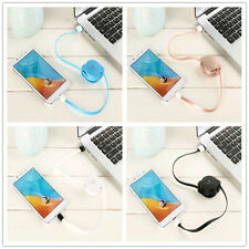 Multicolor Retractable Micro USB Flat Charger Sync Data Cable Cord for Android