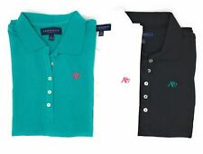 AEROPOSTALE WOMENS SOLID A87 POLO LOT OF 3 SET BUTTON PIQUE SCHOOL UNIFORM