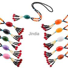 Glass Beads Pendant Ethnic Long Necklace Sweater Chain Jewelry Bohemia Style