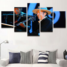 Framed Home Decor Canvas Print Painting Wall Art Bob Dylan Piano Live Poster