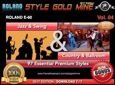 97 NOUVEAUX STYLES Swing Jazz & Country BallRoom Roland E60 EDITION 2017