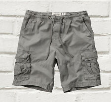 NEW Abercrombie & Fitch Mens A&F Cargo Jogger Shorts Grey XS S M L XL