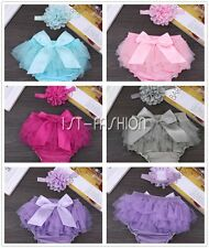 Baby Girls Infant Ruffles Tulle Chiffon Bloomers Panty Briefs Diaper Nappy Cover