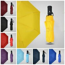 Auto Travel Umbrella Auto Open Close Compact Folding Windproof Waterproof 8Color