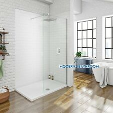 1850 1950 2050 Height Wet Room Walk In Shower Enclosure Clear Glass Screen Panel