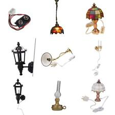 1/12 Scale Dollhouse Wall Ceiling Lamps LED Light Battery Connector Miniatures