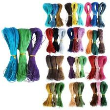 3pcs 3 Colors 80 Meters 1mm Cotton Waxed Cord String Thread for Jewelry Making