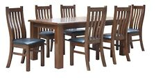 Brand NEW / 7 Piece Dining Setting - Table with 6x Chairs - Two Tone