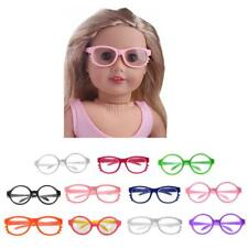 "Cute Round Frame/ Cat Eyeglasses For 18"" American Girl Doll Clothes Accessories"