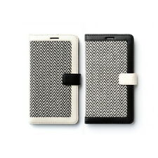 Zenus Herringbone Fabric Leather Slim Diary Cover Case For Samsung Galaxy Note4