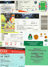 TICKETS: Matches clubs in Europe A - M  *select from list*