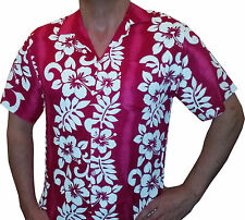 Hawaiian Hawaii Shirt Mens Stag do Party  fancy dress Holiday Flower Pink Medium