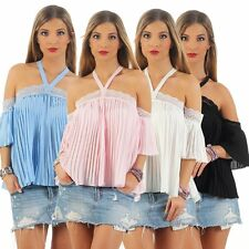 11182 blouses top Pleated Chiffon Party Boho Style Cocktail