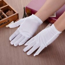 3/5/10 Pairs White Cotton Gloves Coin Jewelry Silver Inspection Gloves Size XL