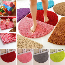 MODERN SHAGGY RUG SOFT FLUFFY ANTI-SLIP FLOOR MAT BEDROOM HALL CARPET semicircle