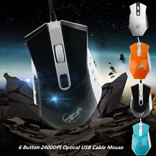 Professional Wired Gaming Mouse 6 Button 2400DPI Optical USB Cable Mouse HT