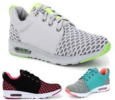 WOMENS FLATS LACE UP LADIES LOW TOPS TRAINERS PUMPS SPORTS GYM SHOES STYLE SIZE