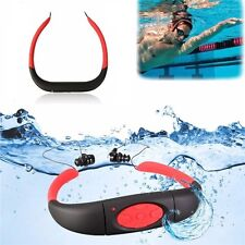 8GB waterproof IPX8 MP3 player FM radio swimming diving surfing sports headphone