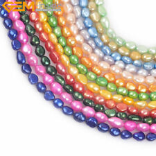 """DIY 8-9mm Dyed Color Freeform Pearls Jewelry Making Loose Beads Strand 15"""""""