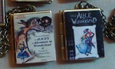 Book Lockets * Through the Looking Glass & Alice in Wonderland * charm necklace