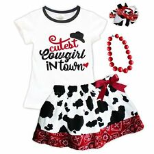 NEW Cutest Cowgirl in Town Red and White Boutique Skirt Set Pageant Outfit USA