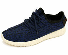 MENS BLUE LACE-UP PLIMSOLLS TRAINERS SPORTS CASUAL GYM RUNNING PUMPS SHOES 6-11