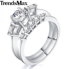 8mm Womens Girls 925 Sterling Silver Wedding Engagement US Sz 6-9 Band Ring