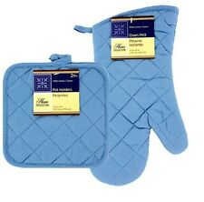 Home Collection Quilted Cotton Kitchen Linens Oven Mitt Glove & Oven Pot Holders