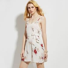 New Style Printed V-Neck Spaghetti Strap Above Knee Mini Dress For Women