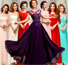 New Long Chiffon Bridesmaid Evening Formal Party Ball Gown Prom Dresses