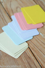 Blank Business Cards 50pc PASTEL Colours DIY wedding craft escort place cards