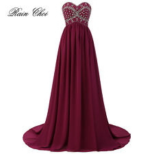 New Long Chiffon Bridesmaid Formal Gown Ball Party Cocktail Evening Prom Dresses