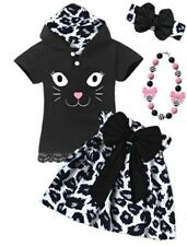 Kitty Cat Skirt Boutique Outfit Halloween costume Girls fall autumn set pageant