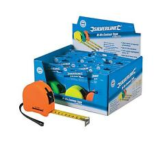 Silverline Measuring Hi-Vis Contour Tape Display Box Of 18 Piece With Pen