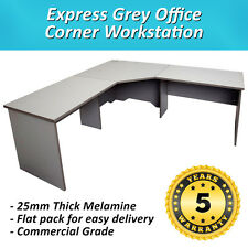 Express Corner Desk Office Workstation - Grey