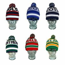 Bobble Beanie Football Rugby Winter Knitted Mens Womens Ski Hat Four Nations
