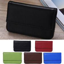 Mens Womens Leather Mini Slim Wallet ID Credit Card Holder Case Organizer Purse