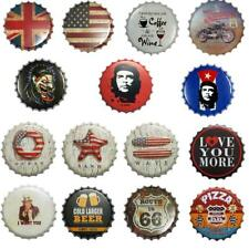 40cm Beer Bottle Cap Metal Tin Sign Plaque Wall Door Poster Cafe Pub Bar Decor