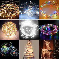 6/10/15/20m Solar Powered Warm White Copper Wire Outdoor String Fairy Light HG