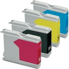4x Cartridges Compatible ink for Brother LC-970 LC-1000 DCP 0.7oz Colour T35