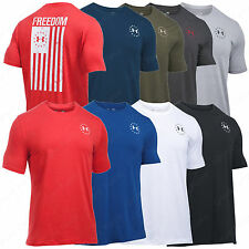 Under Armour Freedom Flag Tee Shirt - UA Men's Tactical Charged Cotton T-Shirt