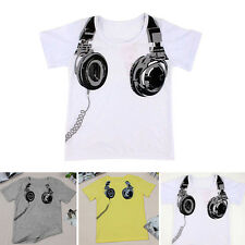 Toddler Kids Clothes Baby Boys Short Sleeve T-shirt  Summer Tops Tee 2-7 Y UK