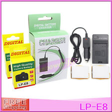 LP-E8 LPE8 battery LC-E8E LC-E8 Charger For Canon EOS 550D 600D 700D Rebel T2i