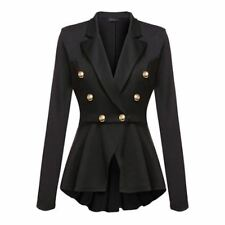 Double Breasted New Fashion Black Red Color Slim Jacket For Women