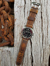 'Dark Brown Vintage Soft Touch' Calf Skin Watch Strap for Panerai - 24mm & 22mm