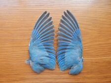 Pair Dried Domestic LoveBird Wings Bird Wings Fly Tying Arts Crafts Taxidermy